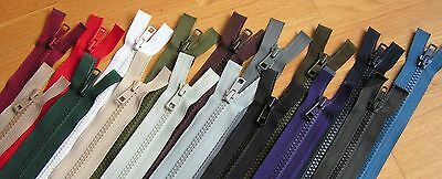 Zips, Chunky Teeth, Open End, Many Colours And Lengths, For Coat, Anorak, Jacket • 3.35£