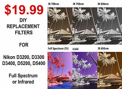 £35.30 • Buy Infrared Full Spectrum Converted Camera DIY Replacement Filter Low Pass 590nm 85