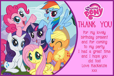Personalised My Little Pony Birthday Party Thank You Cards Inc Envelopes MLP4TY • 5£