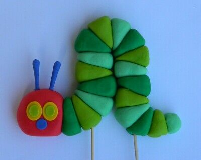 3D Edible HUNGRY CATERPILLAR INSPIRED Cake Topper CUPCAKE DECORATIONS Book Icing • 14£