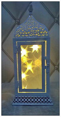 $19.57 • Buy Warm White LED Moroccan Lantern Christmas Lights Decoration Star 3D Hologram
