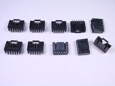 $4 • Buy Lot Of 10 5-103635-5 TE Connectivity PCB Header Connector 6 Pos R/A 2.54mm .100