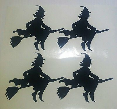 £2.98 • Buy Halloween Wall Stickers - Witch X 4 Spooky Witches Graphics Decal