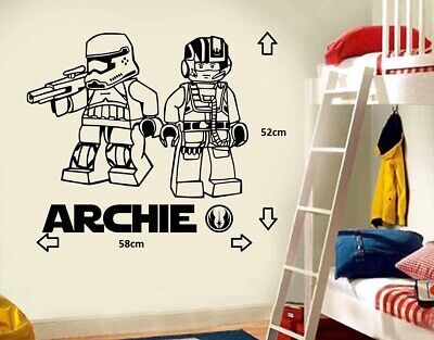 £10.99 • Buy LARGE STAR WARS LEGO The Force Awakens BEDROOM WALL ART STICKER  DECAL