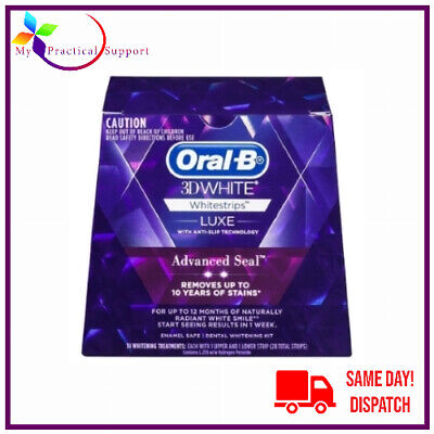 AU36.95 • Buy  Oral B 3D White Luxe Advance Seal Teeth Whitening Strips NEW STOCK