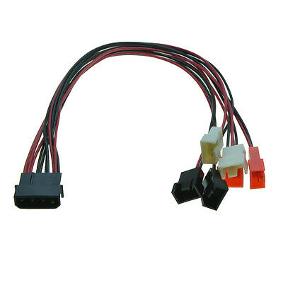 $5.19 • Buy Molex IDE Male 1 To 4Pin 6 Way 3Pin Fan Power Supply Cable Y Splitter PC Cooler