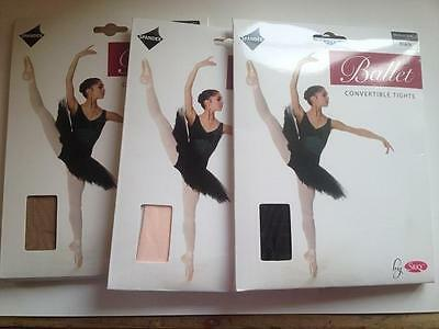 £5.95 • Buy Girls Convertible Ballet Tights By Silky Various Sizes & Colours Children Dance