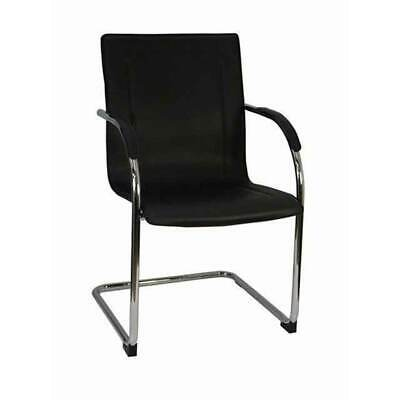 AU99 • Buy New Visitors Chair Sled Base Chairs For School & Office Black Stackable Suzanna