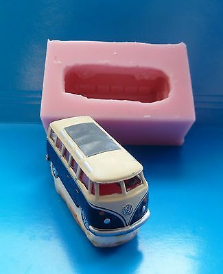 £15.99 • Buy 3d Campervan Silicone Mould For Cake Toppers Chocolate Clay Etc