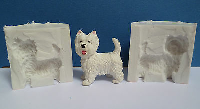 3d Westie Dog Silicone Mould For Cake Toppers, Chocolate, Clay Etc • 9.99£