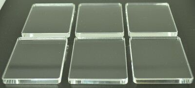 Stamping Blocks Acrylic Clear Plastic Perspex® 5mm Thick 6 Pack 45mm X 55mm • 3.78£