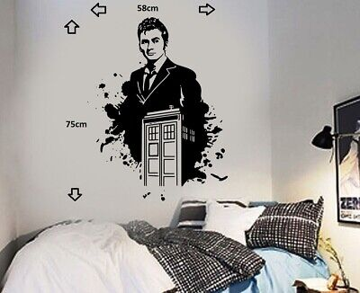 £14.99 • Buy Dr Who And Tardis David Tennant Wall Sticker Icon Wall Decal Art Sticker