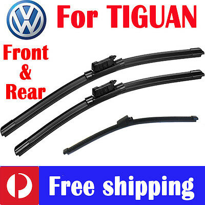 AU35 • Buy Pair Front Wiper Blade Frameless + Rear For Volkswagen VW TIGUAN 5N 2008 - 2016