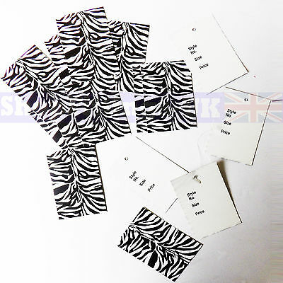 New Style No/size/price Zebra Skin Cloth/ Garment Reference Tickets/stock/tags  • 1.99£