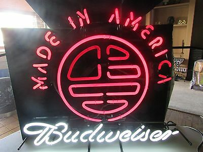 $ CDN302.95 • Buy Budweiser Made In America Neon Beer Bar Sign GameRoom ManCave Budlight Bud Light