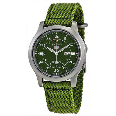 $ CDN152.64 • Buy Seiko 5 SNK805 K2 Automatic Green Nylon Canvas Strap Men's Watch With Seiko Box