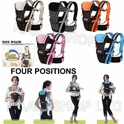New Ergonomic Strong Breathable Adjustable Infant Newborn Baby Carrier Backpack • 14.39£