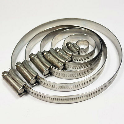 Stainless Steel Hose Clips Jubilee Equiv Worm Clamp Tubing Clip Hose Clamps JCS • 5.95£