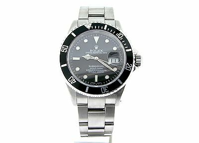 $ CDN10928.23 • Buy Rolex Submariner Date Stainless Steel Watch SEL Sub W/ Black Dial Bezel 16610