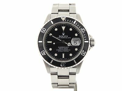 $ CDN11179.46 • Buy Rolex Submariner Date Stainless Steel Watch Black Dial Bezel No Holes SEL 16610T