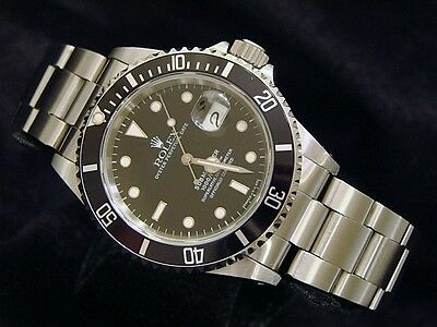 $ CDN11078.88 • Buy Mens Rolex Submariner Date Stainless Steel Watch Black Dial & Bezel Sub 16610
