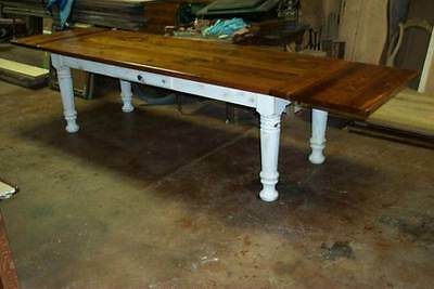 $1785 • Buy Heart Pine Harvest/Dining Table, Rustic, Handcrafted, Reclaimed, Farmhouse, Barn