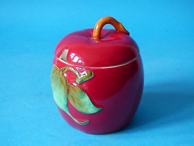 Attractive Collectable Crown Devon Fieldings Red Pottery Jam Preserve Pot #1278 • 13.24£