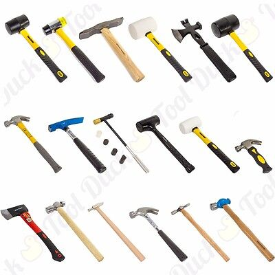 £8.64 • Buy HAMMERS MALLETS & AXES Small-Large HEAVY DUTY TRADE QUALITY TOOLS Builders Hand