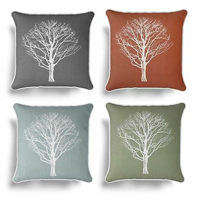£5.95 • Buy Woodland Trees Cushion Cover Modern Reversible Tree Print Covers 17  X 17