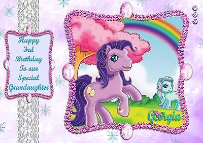 Personalised Birthday Card My Little Pony Daughter Granddaughter Sister Any Name • 3.20£