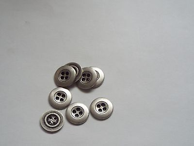 10pc 13mm Pewter Colour Metal Cardigan Trouser Shirt Baby Sewing Buttons 0423 • 3.50£