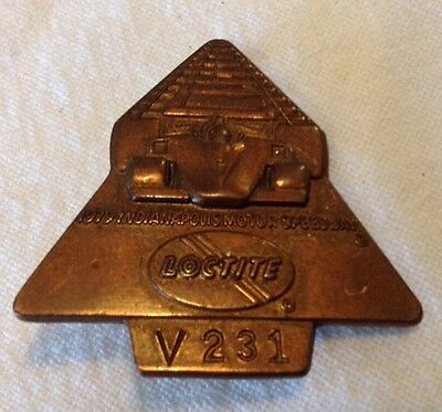 $27.95 • Buy 1979 Indianapolis Indy 500 Motor Speedway Bronze Pit Badge Pin Rick Mears Win