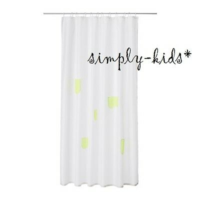 IKEA Children Shower Curtain SPRUTT White Yellow Perfect Kids Bathroom 71 X