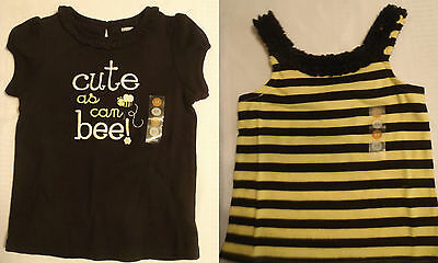 $18 • Buy GYMBOREE Bee Chic Girls 2T Black Cotton Shirt NWT