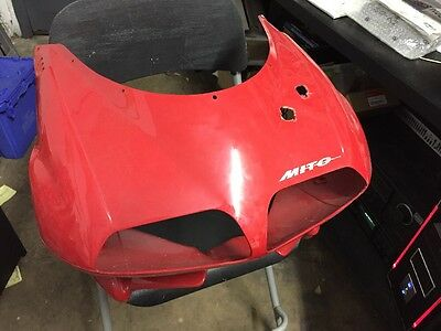 $85 • Buy Cagiva Mito Upper Front Nose Headlight Mask Fairing Panel Cowl Cowling