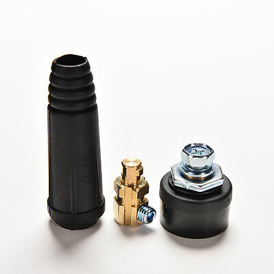 Quick Fitting Cable Connector Plug+Socket DKJ10-25& DKZ10-25 Welding Machine BE • 4.27£