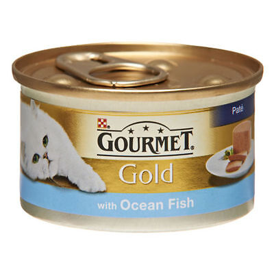 Gourmet Gold Canned Ocean Fish Wet Cat Food 12 X 85g Tins • 10.11£