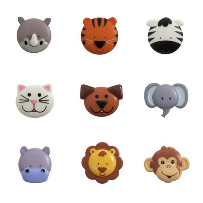 £2.85 • Buy 1 X Button 20mm Animal Faces Cute Animals Novelty 32 Lignes Craft Button