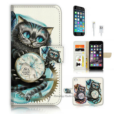 AU12.99 • Buy ( For IPhone 7 Plus ) Wallet Case Cover P3481 Cheshire Cat