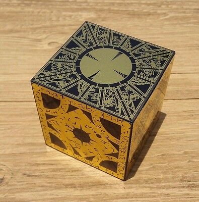 Hellraiser Puzzle Box Solid Wood Lament Cube Foil Face Originator Full Size New • 40.74£