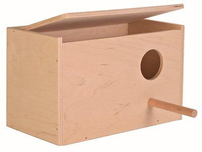 £8.60 • Buy Trixie Wooden Budgie Nest Nesting Box & Perch For Cage Aviary With Opening Top