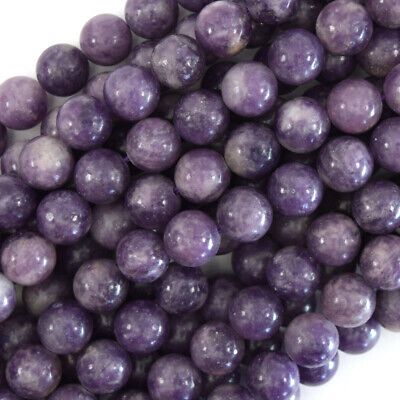 $11.99 • Buy Purple Lepidolite Round Beads Gemstone 15.5  Strand 4mm 6mm 8mm 10mm 12mm