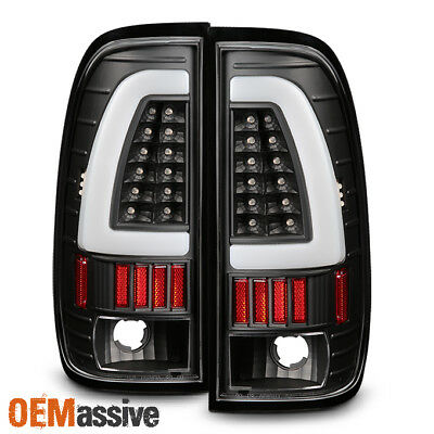 $158.99 • Buy Fit 1997-03 F150 | 1999-07 F-Series Super Duty LED Tube Style Black Taillights