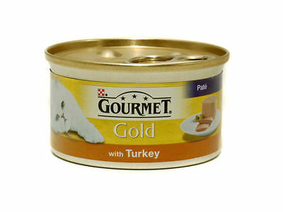Gourmet Gold Turkey Pate Cans 12 X 85 G Tins Wet Cat Food • 9.81£