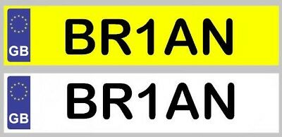Personalised Kids Number Plate Sticker Various Sizes To Suit Ride On Toys • 3.49£