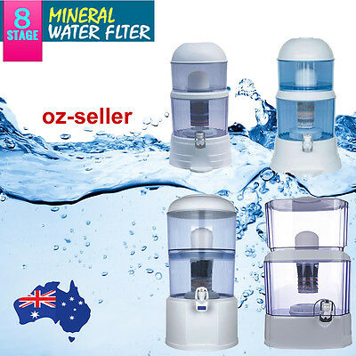 AU50.96 • Buy 8 Stage Water Filter Ceramic Carbon Mineral Benchtop Dispenser Purifier Top