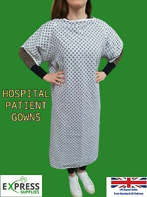 £22.99 • Buy HOSPITAL GOWNS Patient Dignity Gown PPE *PICK YOUR PACK SIZE*