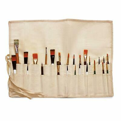 £6.99 • Buy Liquidraw Paint Brush Holder Roll Up Canvas Bag Storage Case 30 Pocket Pouch