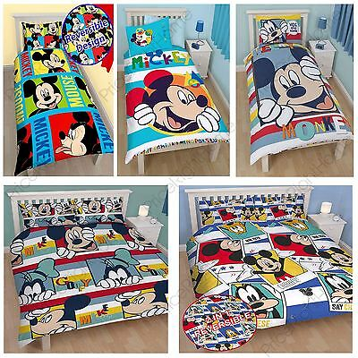 £14.90 • Buy Mickey Mouse Duvet Cover Sets Available In Single & Double Various New Designs!