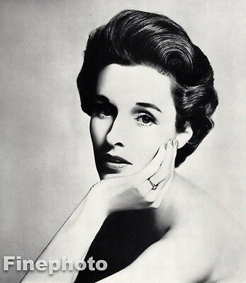 $219.20 • Buy 1957 Vintage 11x14 BARBARA BABE PALEY Socialite CBS Fashion Style RICHARD AVEDON